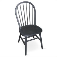 Spindleback Windsor Dining Chair in Black Finish - C46-212