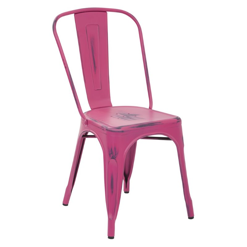 metal stacking chairs outdoor how to clean an upholstered chair in antique pink set of 4 brw29a4 ap