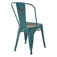 Metal Stacking Chair in Turquoise (Set of 4) - BRW29A4-ATQ