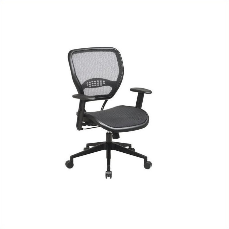 office star chairs chair cover hire cornwall air grid deluxe task in black 5560