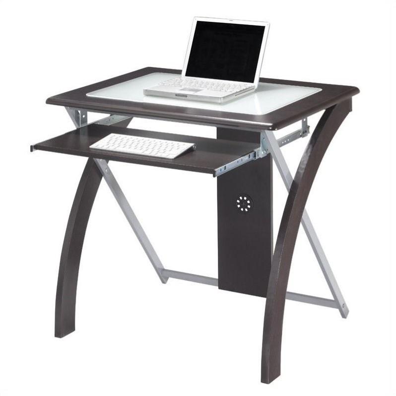 Computer Desk in Espresso w Silver Accents  XT59ES