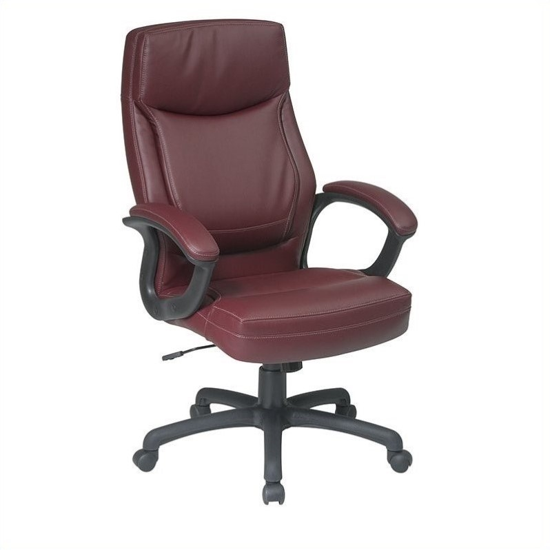 Executive High Back Burgundy Leather Office Chair  EC6583EC4