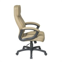 Executive High Back Tan Eco Leather Office Chair - EC6583-EC21