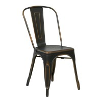 Metal Dining Chair in Antique Black (Set of 2) - BRW29A2-AB
