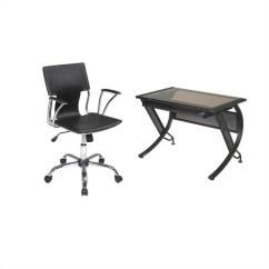 Dorado Office Chair Patio Sling Desk With Keyboard And Vinyl Hzn25 Dor26