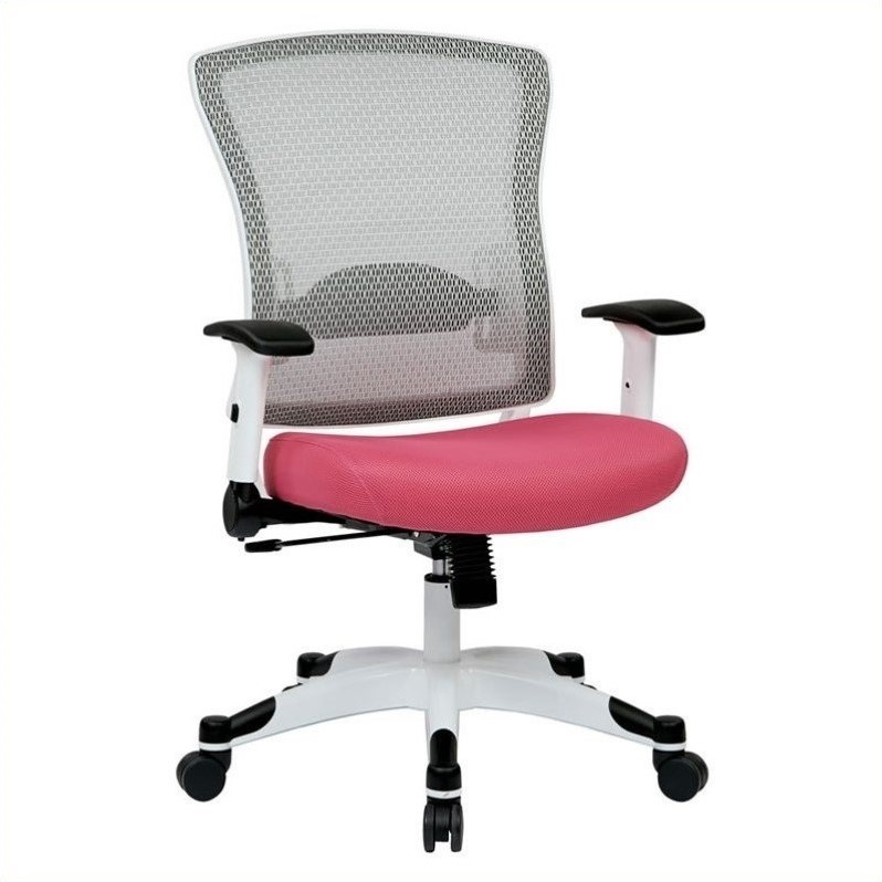 office star chairs rolling chair covers for sale white frame managers in pink 317w w1c1f2w 261