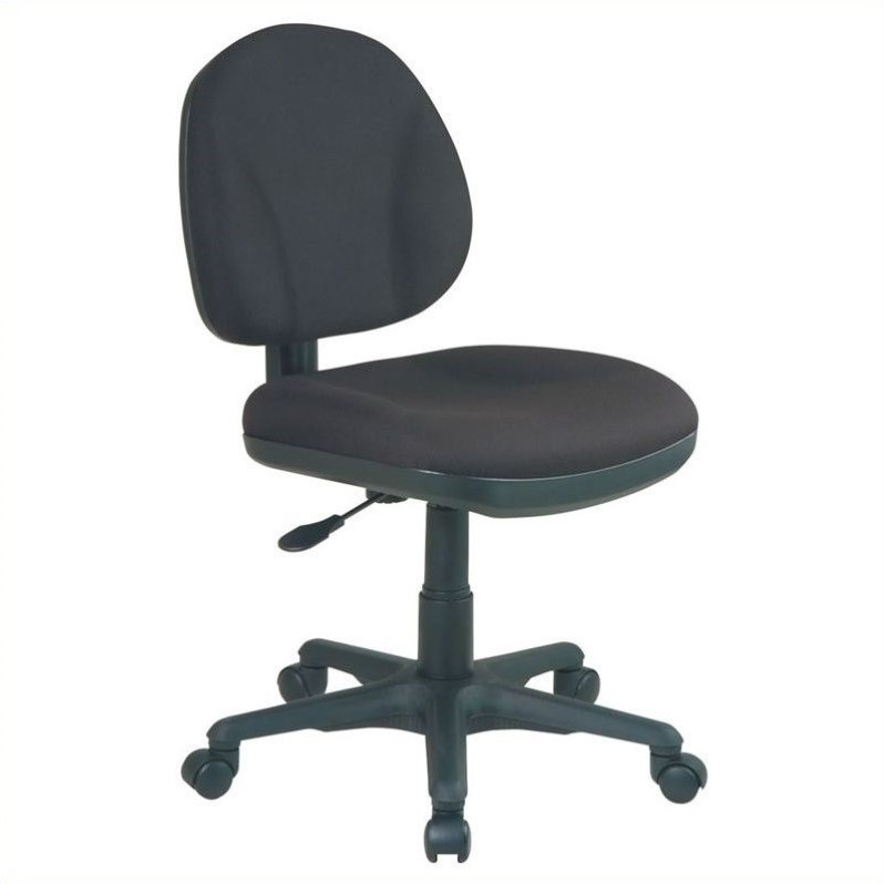 Sculptured Task Office Chair without Arms in Black  8120231