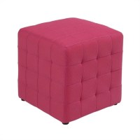 Fabric Ottoman Cube in Pink - DTR15-261