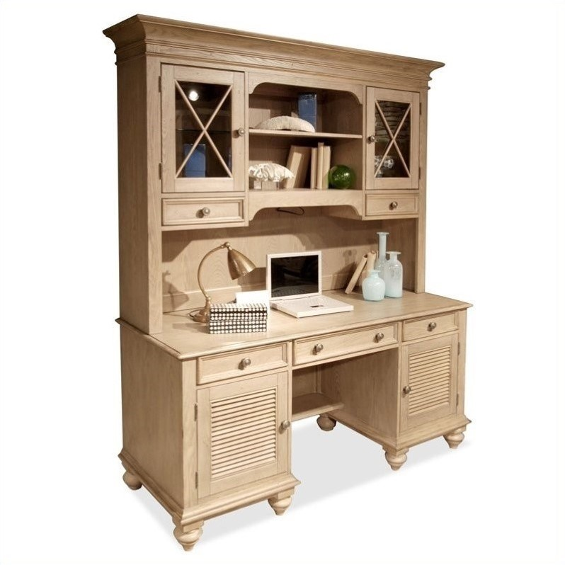Riverside Furniture Coventry Credenza Hutch Driftwood