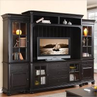 Beacon Point TV Entertainment Center in Pepper Black ...