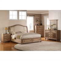 Riverside Coventry 5 Piece Queen Bedroom Set in Driftwood ...