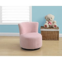 Pink Swivel Chair Ergonomic Cushion Kids In I 8152