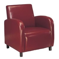 Faux Leather Accent Chair in Burgundy - I 8051
