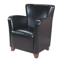 Faux Leather Accent Chair in Black - I 8067