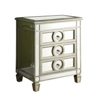 3 Drawer Mirrored Accent Table - I 3701