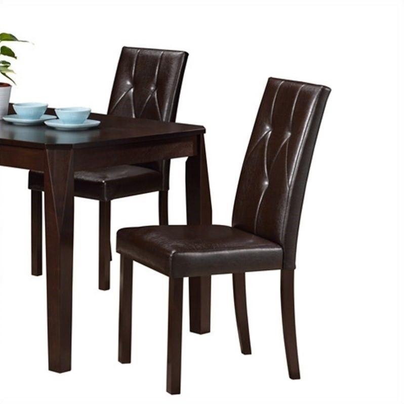 Monarch Dining Chair in Dark Brown Set of 2  eBay
