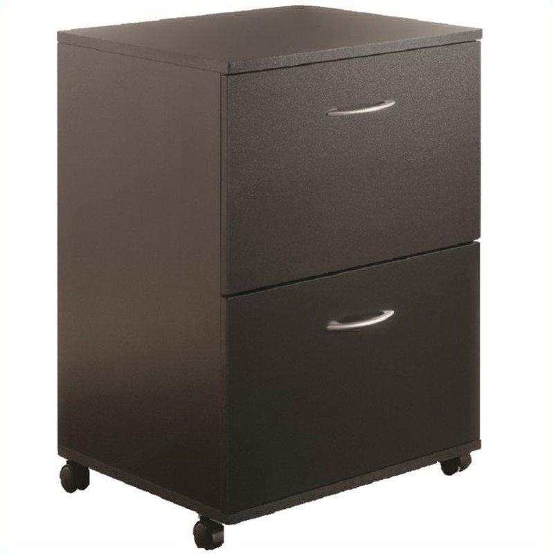 Nexera Mobile 2 Drawer Mobile Wood Black Filing Cabinet  eBay