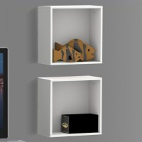 Decorative Wall Cubes in White (set of 2) - 222503