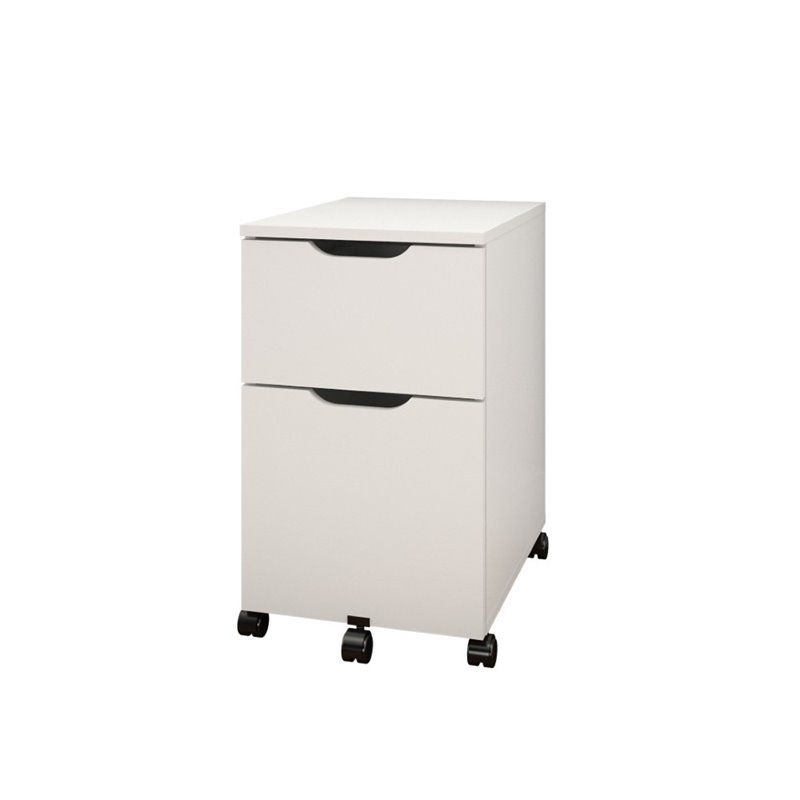 Mobile Filing Cabinet in White and Melamine  603203