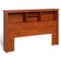 Full / Queen Bookcase Headboard in Cherry Finish