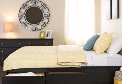 Black Queen Bed With Storage