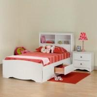 Prepac Monterey White Twin Wood Platform Storage Bed 3
