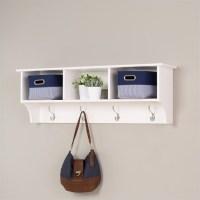 Prepac Sonoma White Cubbie Shelf Wall Coat Rack | eBay