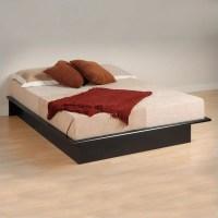 Black Queen Bookcase Platform Bed 3 Piece Bedroom Set
