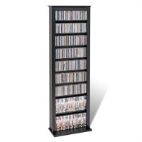 Prepac Slim Barrister CD DVD Media Storage Tower Black