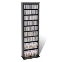 Prepac Slim Barrister CD DVD Media Storage Tower Black | eBay