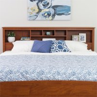 King Bookcase Headboard in Cherry