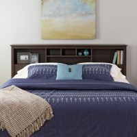 King Bookcase Headboard in Espresso Finish