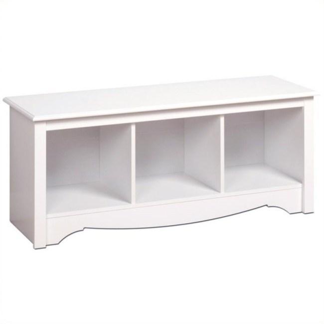 Prepac Monterey White Cubby Bench
