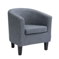 Barrel Chair in Blue Gray - LAD-778-C