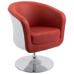 Swivel Tub Chairs High Heel Storage Chair Corliving Mod Leather In Red And White Dln 250 C