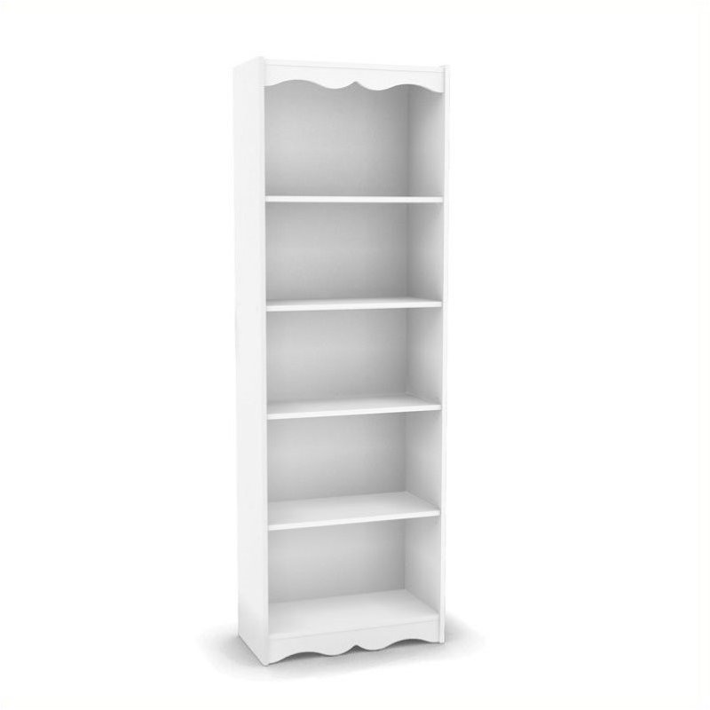 7239 Tall Bookcase In Frost White Lhn 712 S
