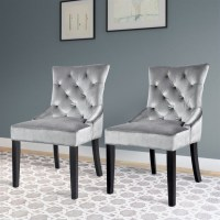 Tufted Accent Chair in Grey (Set of 2) - LAD-480-C