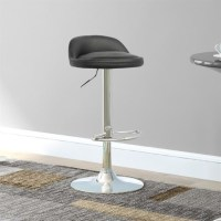 Low Profile Adjustable Bar Stool in Black (Set of 2) - DPU ...