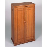 CD/DVD Media Storage Cabinet with Door in Oak