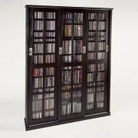 "61"" Triple CD DVD Wall Media Storage Cabinet in Espresso ..."