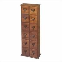 "40"" Tall 12-Drawer 144 CD Media Storage Cabinet in Oak ..."