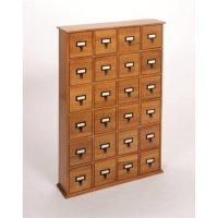288 CD Storage Cabinet in Walnut - CD-288W