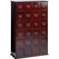 Leslie Dame 24-Drawer CD Media Storage Cabinet Cherry | eBay
