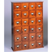 Leslie Dame 24-Drawer CD Media Storage Cabinet Walnut | eBay