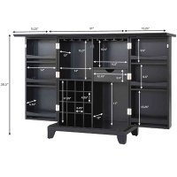 Crosley Furniture Cambridge Expandable Home Bar Cabinet in ...