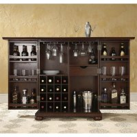 Crosley Furniture Alexandria Expandable Home Bar Cabinet ...