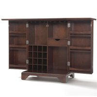 Crosley LaFayette Expandable Bar Cabinet in Vintage ...