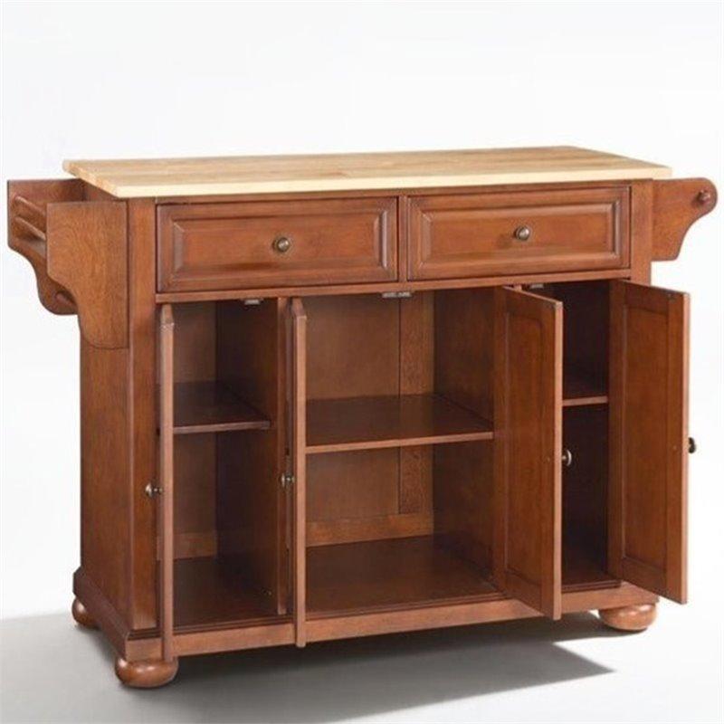 Crosley Furniture Alexandria Wood Top Kitchen Island in