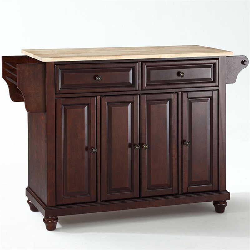 Crosley Furniture Cambridge Natural Wood Top Kitchen