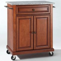 Cherry Kitchen Cart Farmhouse Sink For Sale Crosley Furniture Solid Granite Top Classic Kf30023ech